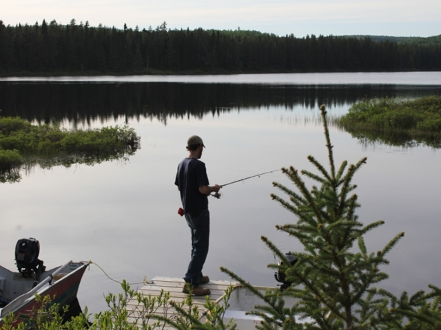 Fishing Remote Pond in Quebec